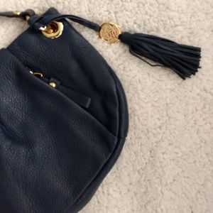 Navy Blue Vince Camuto Leather Crossbody